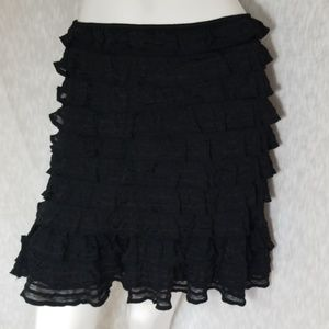 3/$24💟MAX STUDIO Layered Ruffle Elastic Skirt